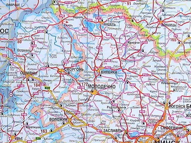 Островец на карте Беларуси