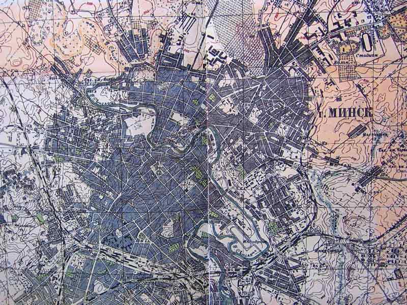 Карта Минска 1930 года.