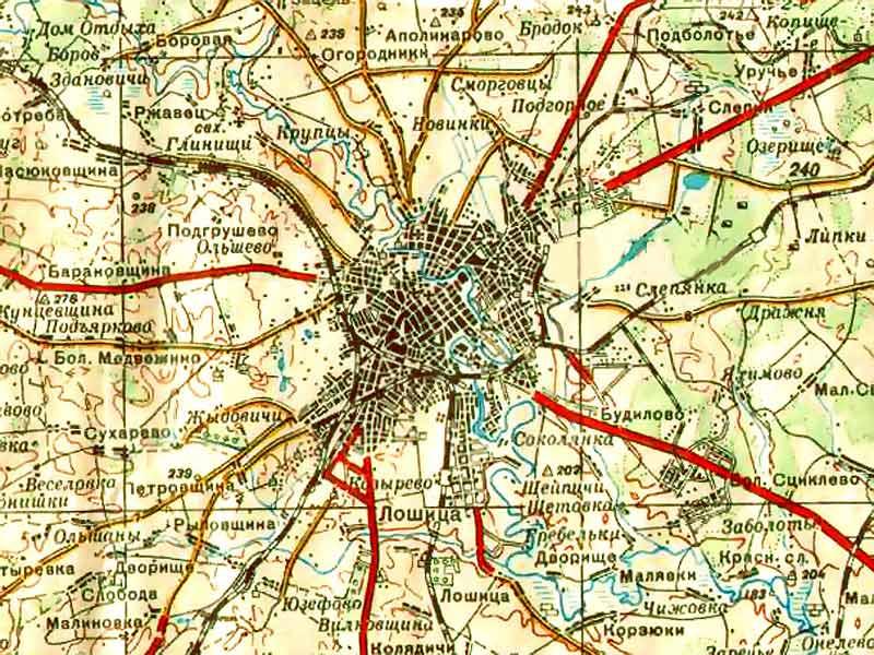 карта минска с улицами и