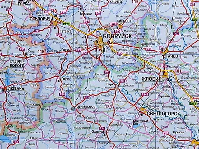 Карта Могилёвского района.