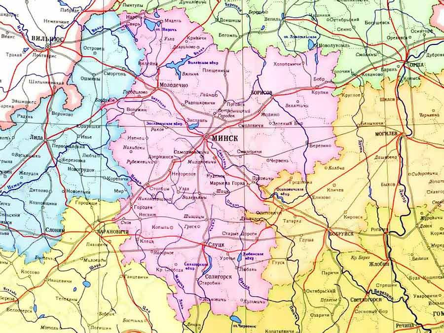 Беларусь, Борисов карта, Борисов фото, адреса, улицы.