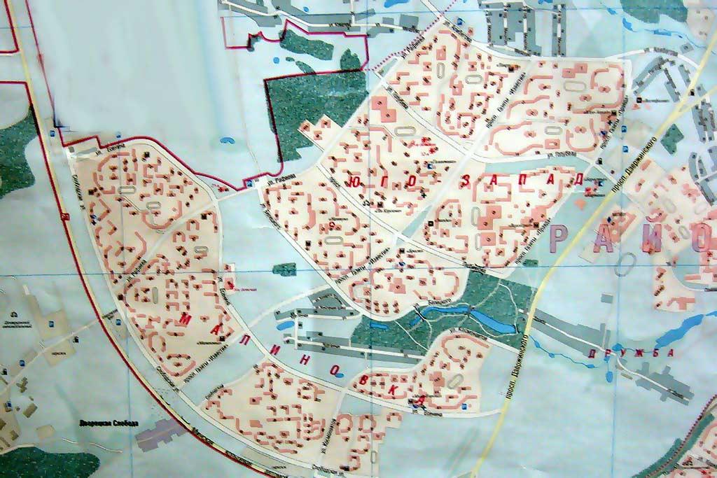 Малиновка. Юго-запад. Карта