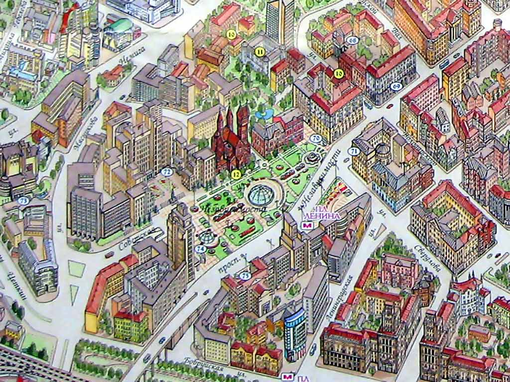 ТЦ столица на карте Минска